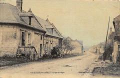 Thiescourt Grand Rue (cpa toilée émaillée cpa pas courante - Thiescourt