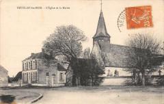 Neuillay Les Bois L'Eglise Et La Mairie (cpa pas courante - Neuillay-les-Bois