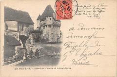 Nevers Porte Du Croux Et Avant Porte  (dos non divisé - Nevers