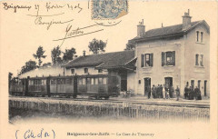 Baigneux Les Juifs La Gare Du Tramway (dos non divisé) Train En Gare - Baigneux-les-Juifs
