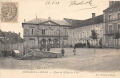 Couches Les Mines Place De L'Hotel De Ville  (dos non divisé) - Couches