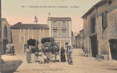 Saint Jean Lasseille La Place (cpa animée rare - Saint-Jean-Lasseille