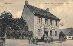 Altthann Restauration Z.goldenen Lamm H.hiltenbrand (pas courante - Thann