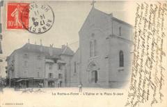 La Roche Sur Foron L'Eglise Et La PlaceSaint-Jean (dos non divisé) - La Roche-sur-Foron