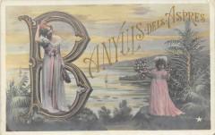 Banyuls Dels Aspres Rare Cpa Dans Le Gout Art Nouveau Femme 1900  (vraime - Banyuls-dels-Aspres
