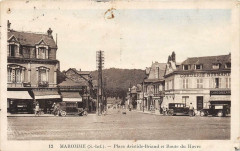 Maromme Place Aristide Briand Et Route Du Havre (cliché pas courant - Maromme