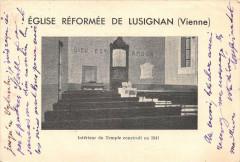 Lusignan Eglise Reformee De Lusignan Interieur Du Temple Construit En 184 - Lusignan
