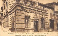 Albi Banque Ville Ou Villa Agence D'Albi Rue Du Jardin National (cpa pas - Albi
