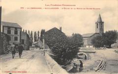 Saillagouse L'Eglise Et La Route De Bourg Madame - Saillagouse