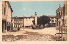 Saint Porquier Place De La Mairie (cpa pas courante - Saint-Porquier