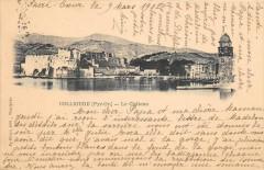 Collioure Le Chateau (dos non divisé) cliché pas courant  (cpa pionnière - Collioure