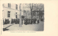 Nancy Pensionnat De L'Assomption Cour De Recreation  (dos non divisé) - Nancy