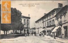 Lussac De Libourne Place De La Republique - Lussac