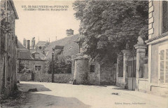 Saint Sauveur En Puisaye Rue Du Bourg Gele - Saint-Sauveur-en-Puisaye