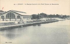 Joigny Le Marche Couvert Et Petit Terrain De Manoeuvres (cliché rare - Joigny