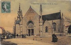 Languidic Chapelle N.d.des Fleurs (cpa toilée émaillée - Languidic