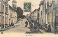 Bourg De Coulombiers Vienne (cliché colorisé - Coulombiers