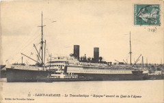 66 Saint Nazaire Le Transatlantique Espagne Amarre Au Quai De L'Agence - Saint-Nazaire