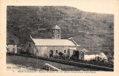 Montferrer Eglise Romane (cliché vertical pas courant - Montferrer