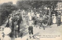 Cognac Fete Des Fleurs 1909 Le Defile Sur L´ESPLANADE Du Parc - Cognac