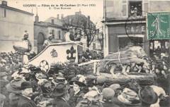 Cognac Fetes De La Mi Careme 1909 Char Romain - Cognac