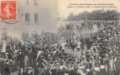 Nevers Cortege Historique De Jeanne D´ARC 1909 La Musique Et Les Echevins - Nevers