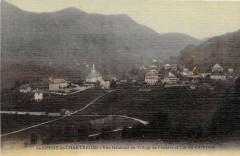 Saint Pierre De Chartreuse Vue Generale Du Village De L´EGLISE (cpa toilé - Saint-Pierre-de-Chartreuse