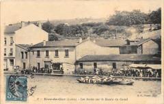 Rive De Gier Les Joutes Sur Le Bassin Du Canal - Rive-de-Gier