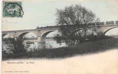 Maisons Laffitte Le Pont (train dessus le viaduc - Maisons-Laffitte