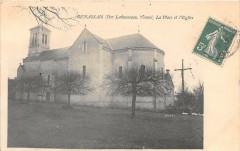 Benassais Par Lavausseau La Place De L'Eglise (cliché pas courant - Usseau
