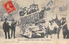 Fetes De Voiron 1908 Char Du Bateau - Voiron