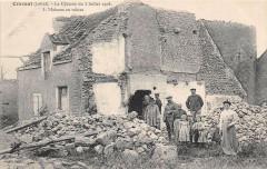 Cravant Le Cyclone Du 3 Juillet 1905 Maison En Ruines - Cravant