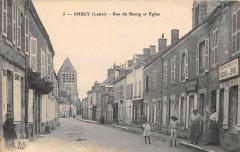 Checy Rue Du Bourg Et Eglise - Chécy
