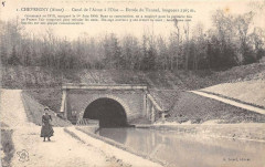 Chevregny Canal De L'Aisne A L'Oise Entree Du Tunnel (cliché pas courant - Chevregny