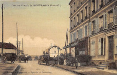 Vue Sur L'Entree De Montmagny (cpa toilée émaillée - Montmagny