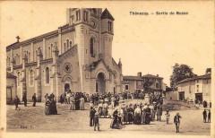 Thenezay Sortie De Messe (cpa glacée - Thénezay