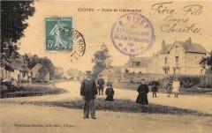 Cloyes Route De Chateaudun (cpa toilée émaillée - Châteaudun