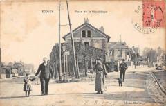 Ecouen Place De La Republique (cliché rare - Écouen