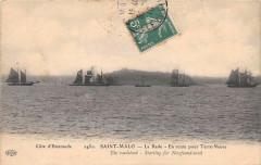 Saint Malo La Rade En Route Pour Terre Neuve (cliché pas courant - Saint-Malo