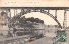 Mayenne Vue Sous Le Viaduc Metallique (cliché rare - Mayenne