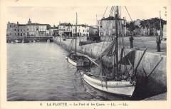 La Flotte Le Port Et Les Quais (cliché pas courant - Courant