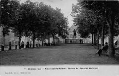 Chateauroux Place Saint Helene Statue Du General Bertrand (cpa émaillée c - Châteauroux