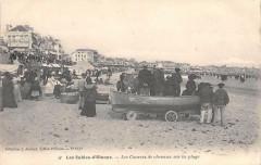 Les Sables D'Olonne Les Courses De Chevaux Sur La Plage (cliché très rare - Les Sables-d'Olonne