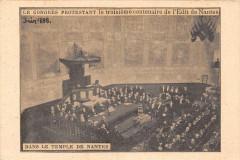 Dans Le Temple De Nantes Le Congres Protestant Le 3e Centenaire Edit De N - Nantes