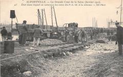 Alfortville Gde Crue De La Seine 1910 Etat Dans Lequel On Retrouva Les Vo - Alfortville