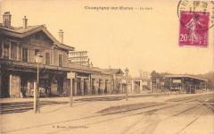 Champigny Sur Marne La Gare (cliché pas courant 94 Champigny-sur-Marne