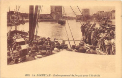 La Rochelle Embarquement De Forcats Pour L'Ile De Re - La Rochelle