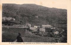 Montferrer Vue Generale Et Le Chateau - Montferrer