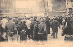L'Inventaire A Saint Benoit Reims 1906 Une Bagarre Pres De L'Eglise - Reims