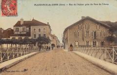 Plaisance Du Gers Rue De L'Adour Prise Du Pont De L'Arros (cpa glacée) - Plaisance